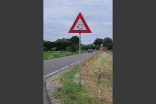 Eines der Dinge die auf Tour gerne fotografiert werden: Schilder